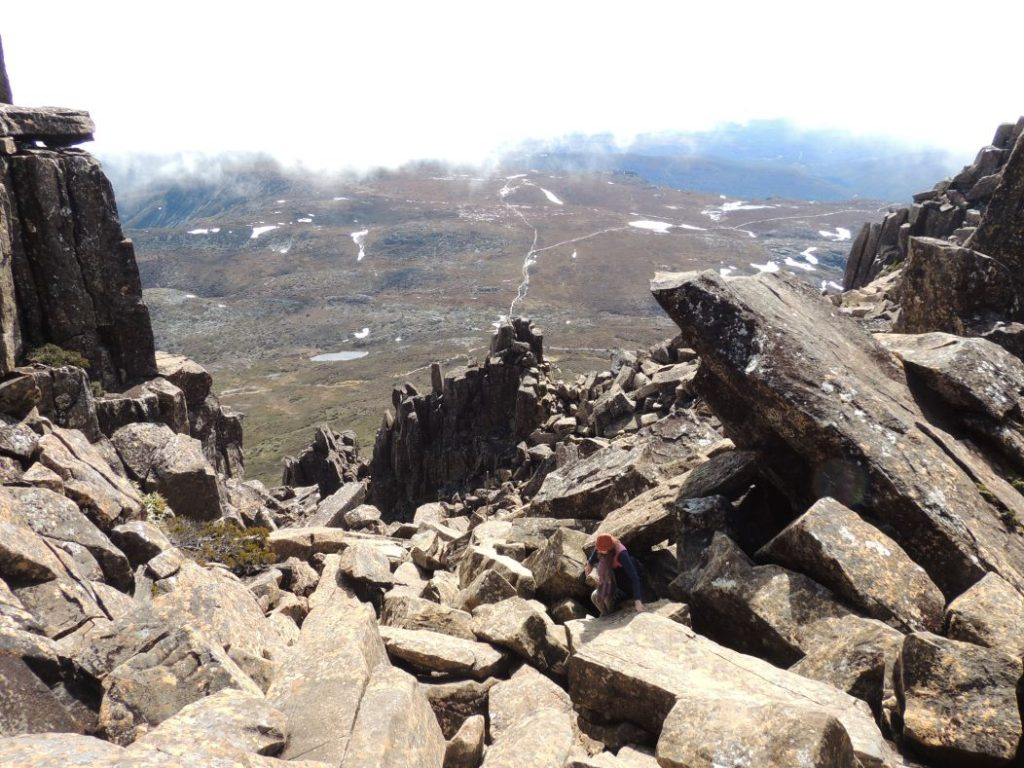 Rugged terrain of Cradle Mountain. Image: Christopher Dixon.