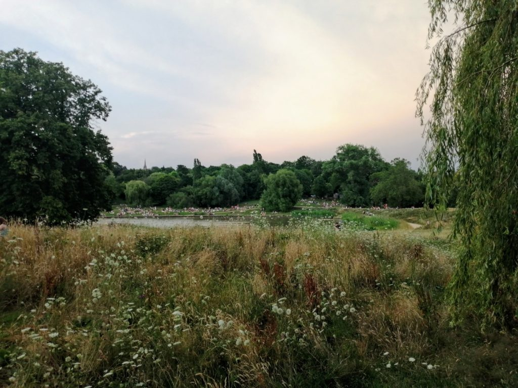 London's Hampstead Heath in summertime